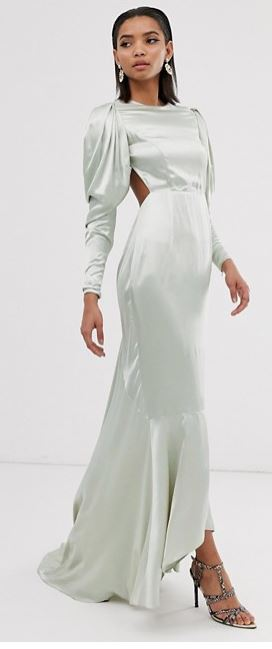 Satin fishtail maxi dress, £120.00, ASOS EDITION