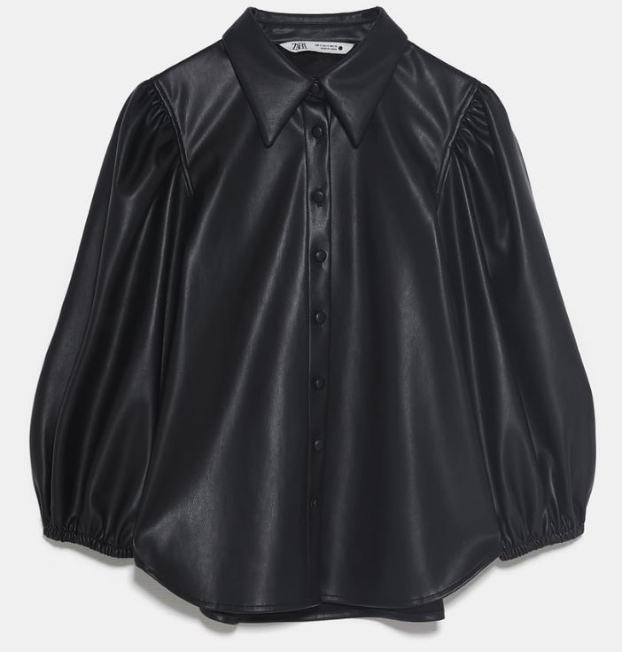 Faux leather shirt, £29.99, Zara