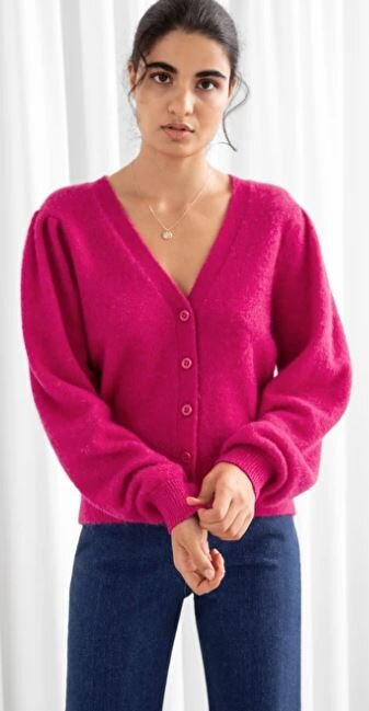 Wool blend puff shoulder cardi, &other stories, £75.00