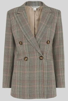 Multicolour check blazer, Whistles, £151.20  (currently 20% off)