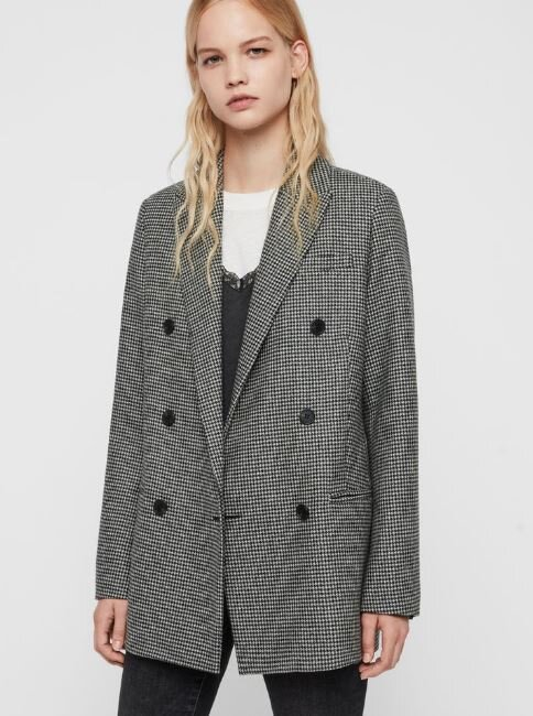 Astrid puppytooth blazer, All Saints, £258.00
