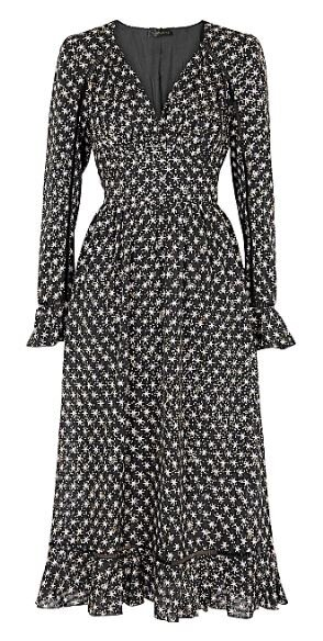 William star-print midi dress, Stine Goya, Harvey Nichols, £210.00