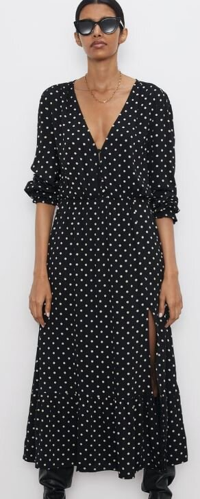 Polka dot dress, Zara, £49.99