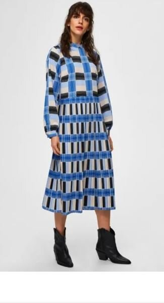 Checked midi dress, Selected Femme, £90