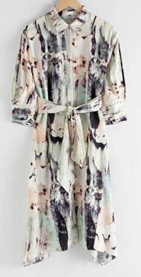 Watercolour shirt dress, &other stories, £85.00