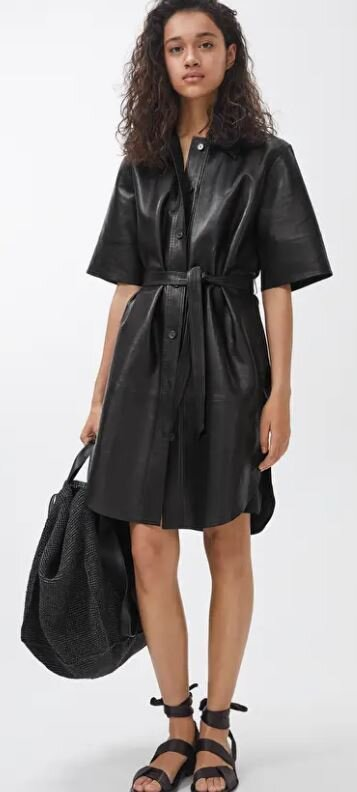 Leather shirt dress, Arket, £290.00