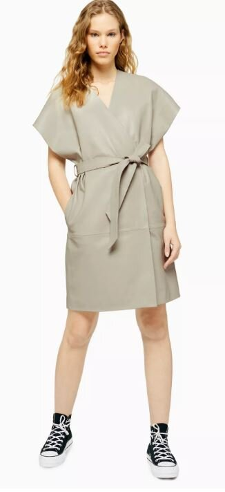 Grey leather judo dress, Topshop boutique, £250.00