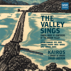 Features  Exeter Riddles  for chorus, harp & drum  Fantastic Collection of choral works by composers residing in the Hudson Valley.  (In addition, I sang as a member of Kairos on this recording.)