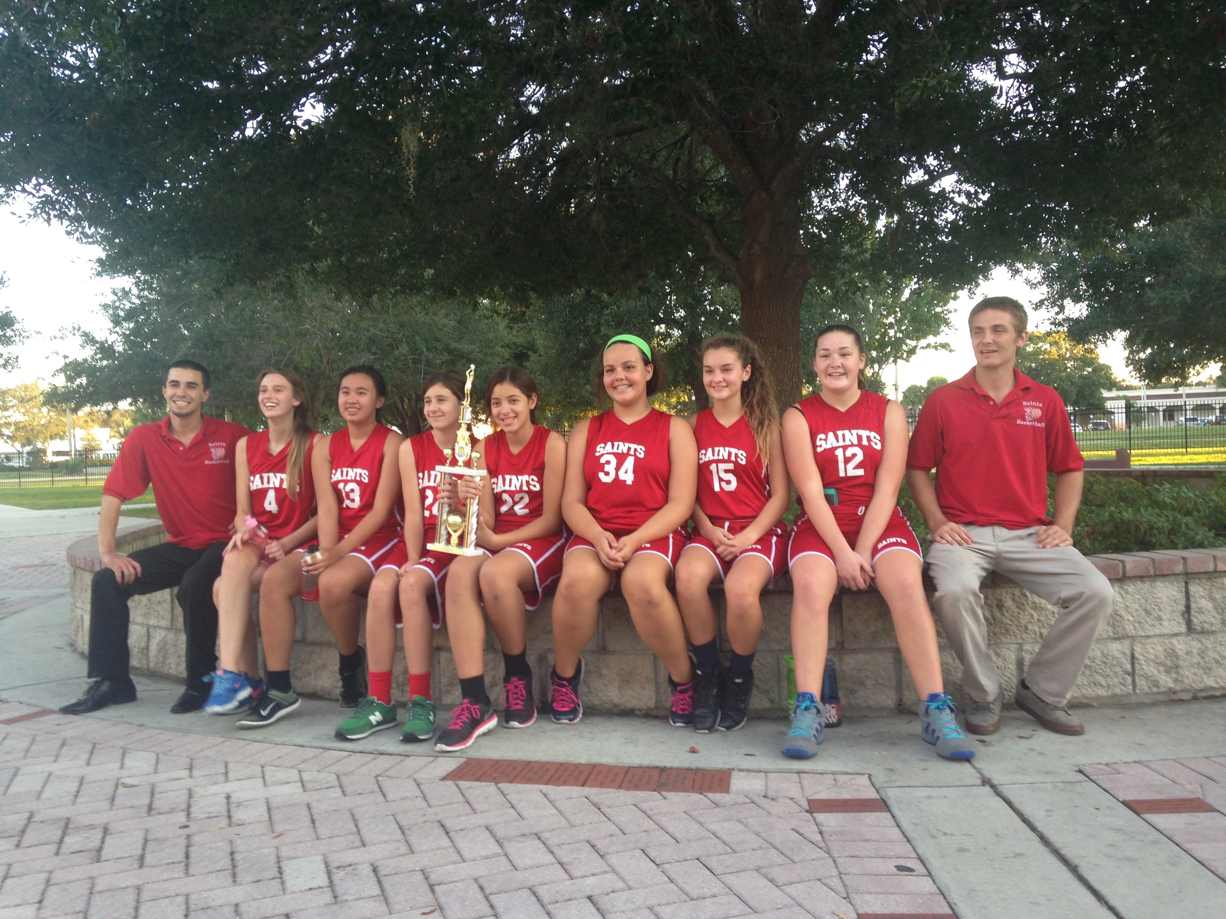 Our 2015 Girls Basketball Team won 3rd place this year!!!!