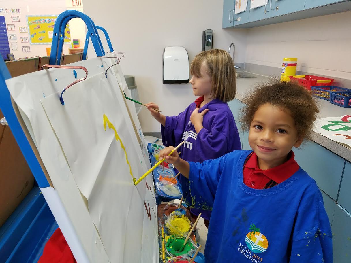 The best part of kindergarten is painting!
