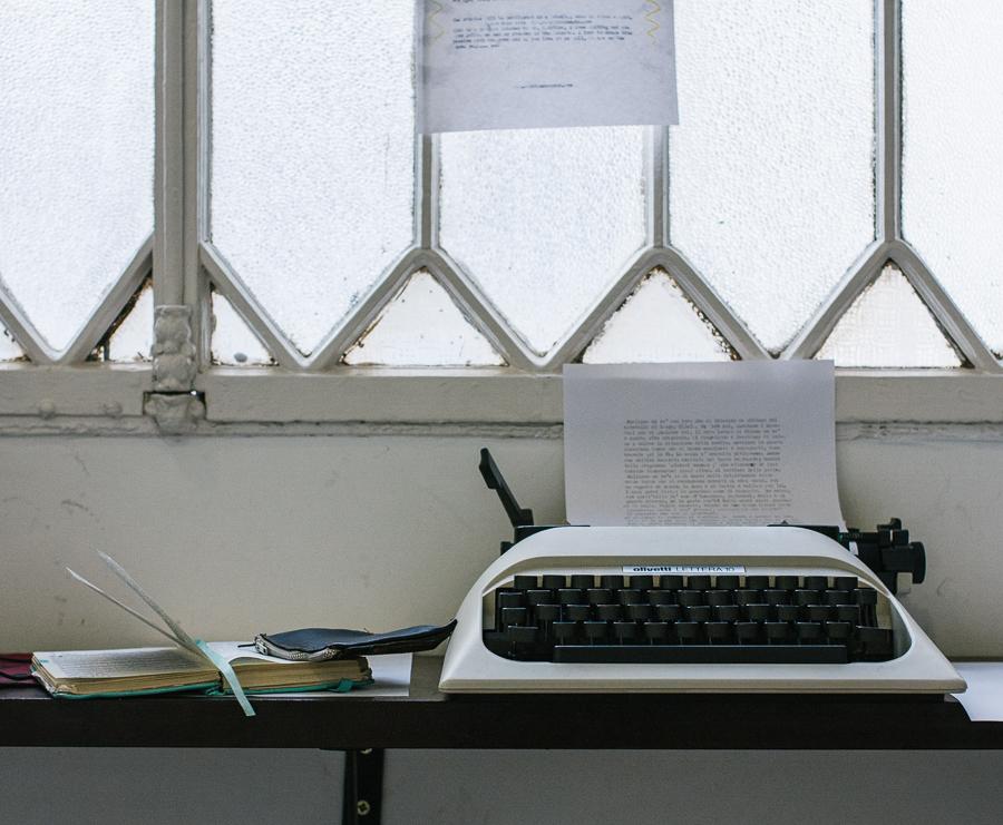 Cristina's typewriter she left at the hostel.