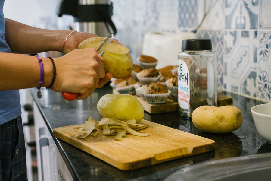 Making gnocchi before Giulia left