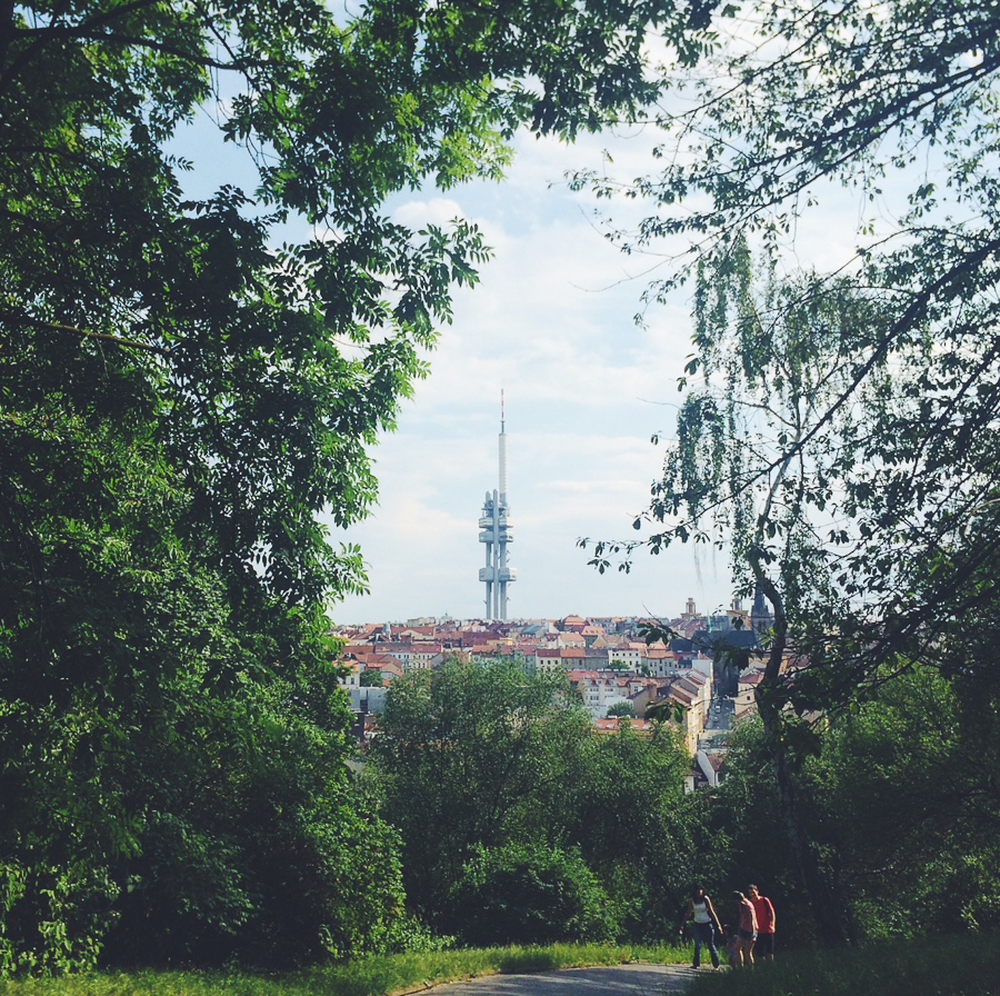 View of Zizkov from Vitkov park
