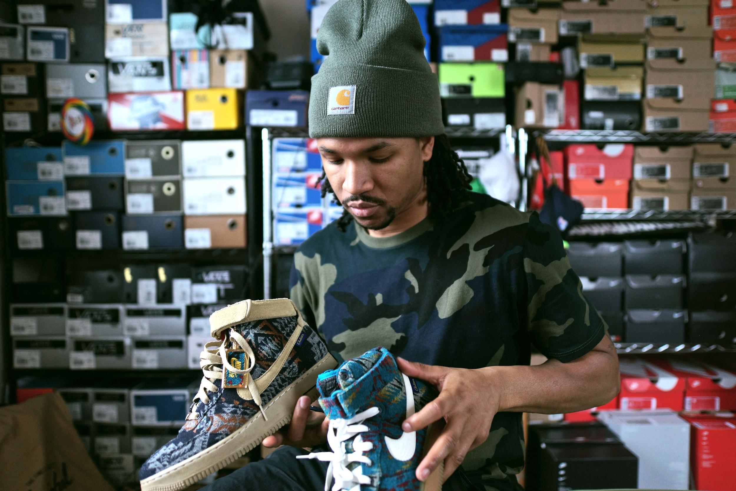 """Nike Air Force 1 Hi """"Pendleton"""" ID by JD"""