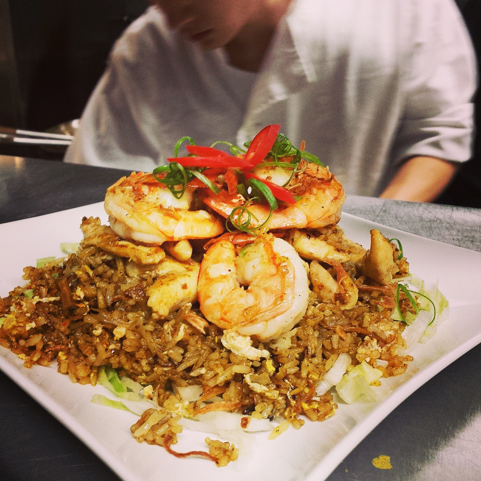 Nasi Goreng   Malaysian style fried rice by special request