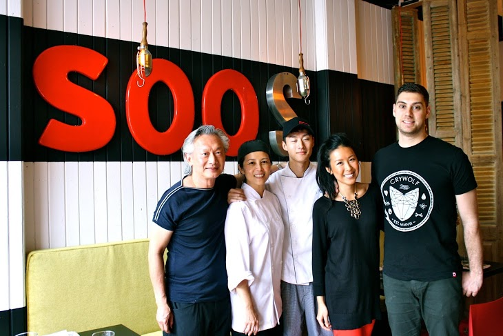 The Family   From left: Zenn (owner), Tricia (chef), Zack (cook), Lauren (manager), Johnny Kountouri (bar manager)  Photo Credit: Caroline Aksich