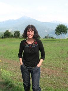 Giuliana and the volcano.