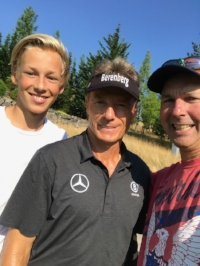 Bernhard Langer, Hans-Thomas and his son Lukas at the boeing classic 2017!