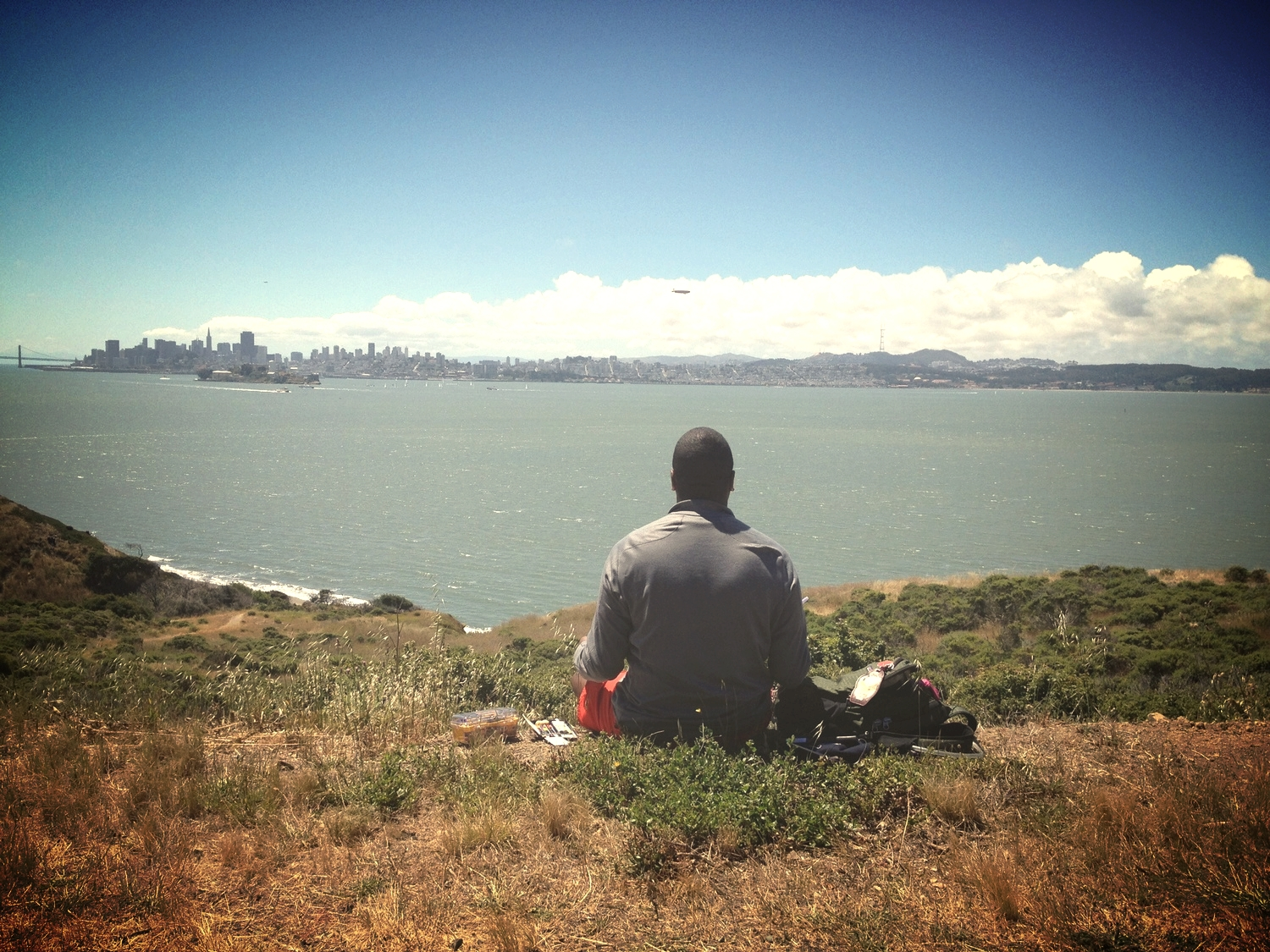 The Cove Below Fire Road, Angel Island. San Francisco California. 2012