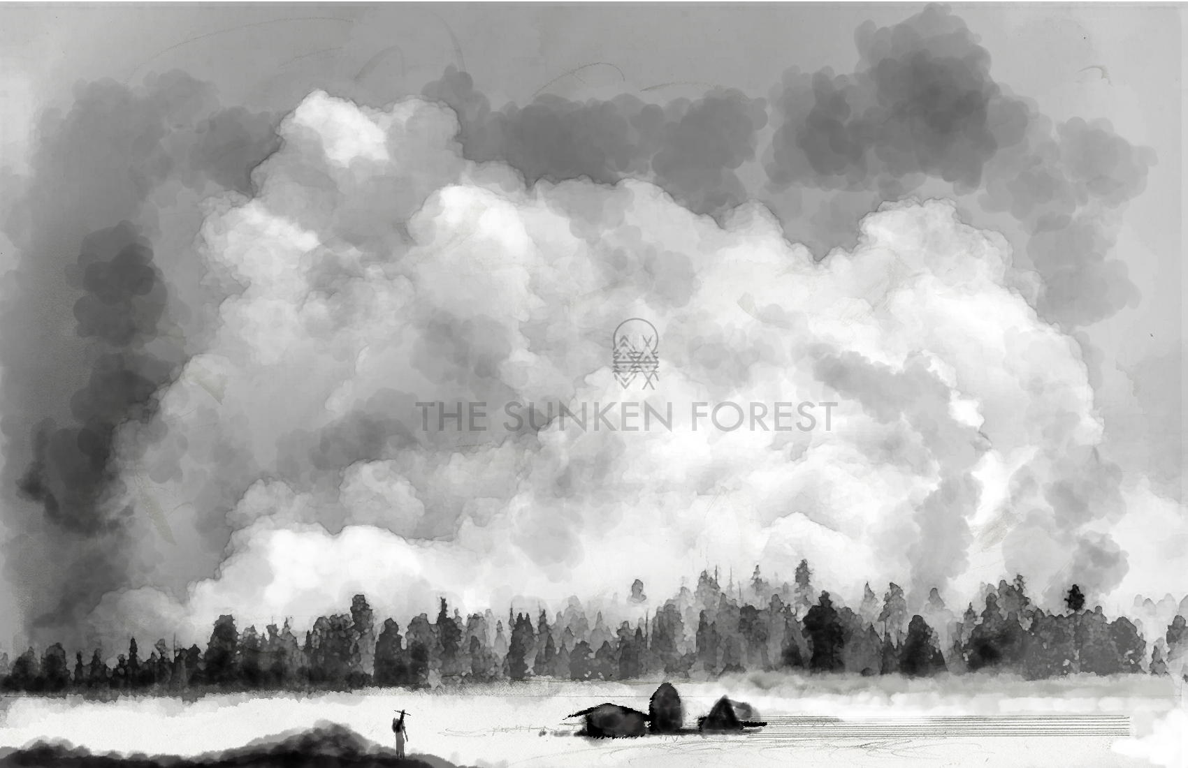 The Sunken Forest Poster created after getting approved to continue my Senior thesis Pitch. So excited to bring this to the public. 2016.© By Mister Kennedy