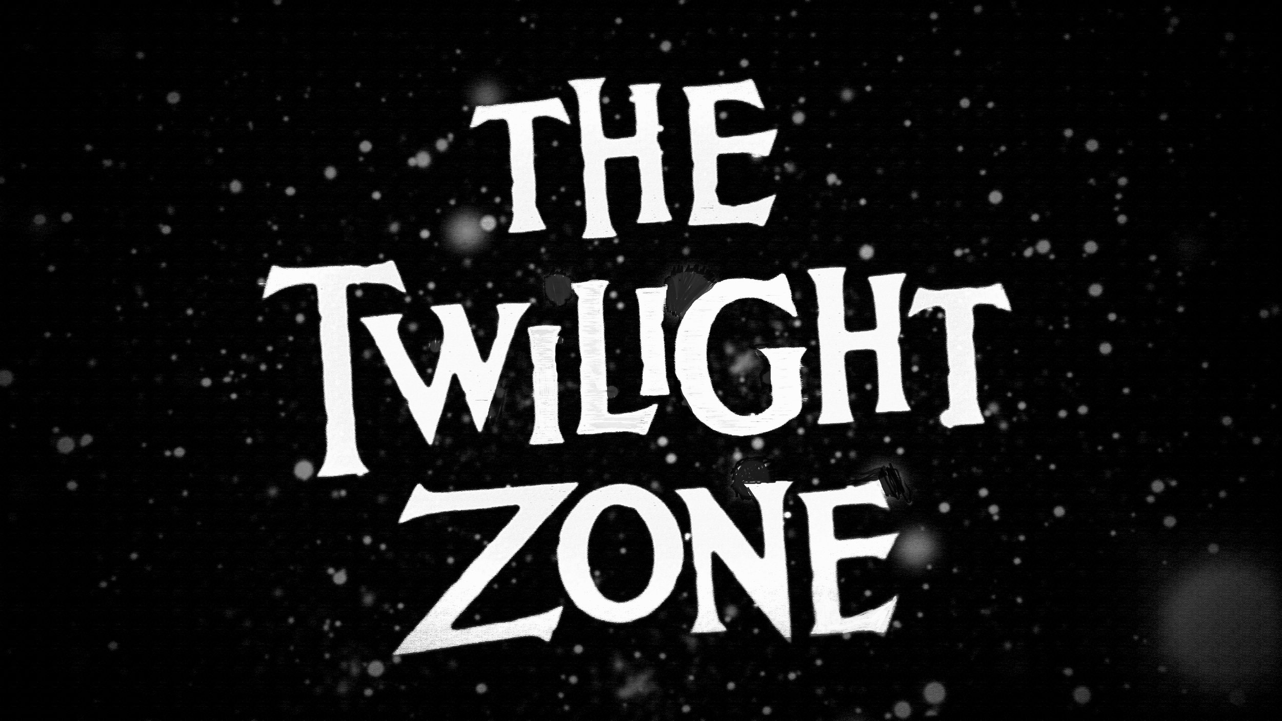 Twilight Zone introduction with music plays.