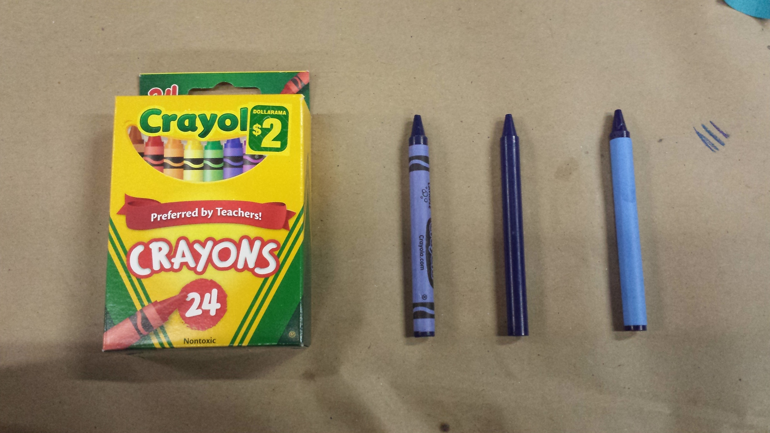 Greeking crayons to use onscreen. (Playdate 2015)