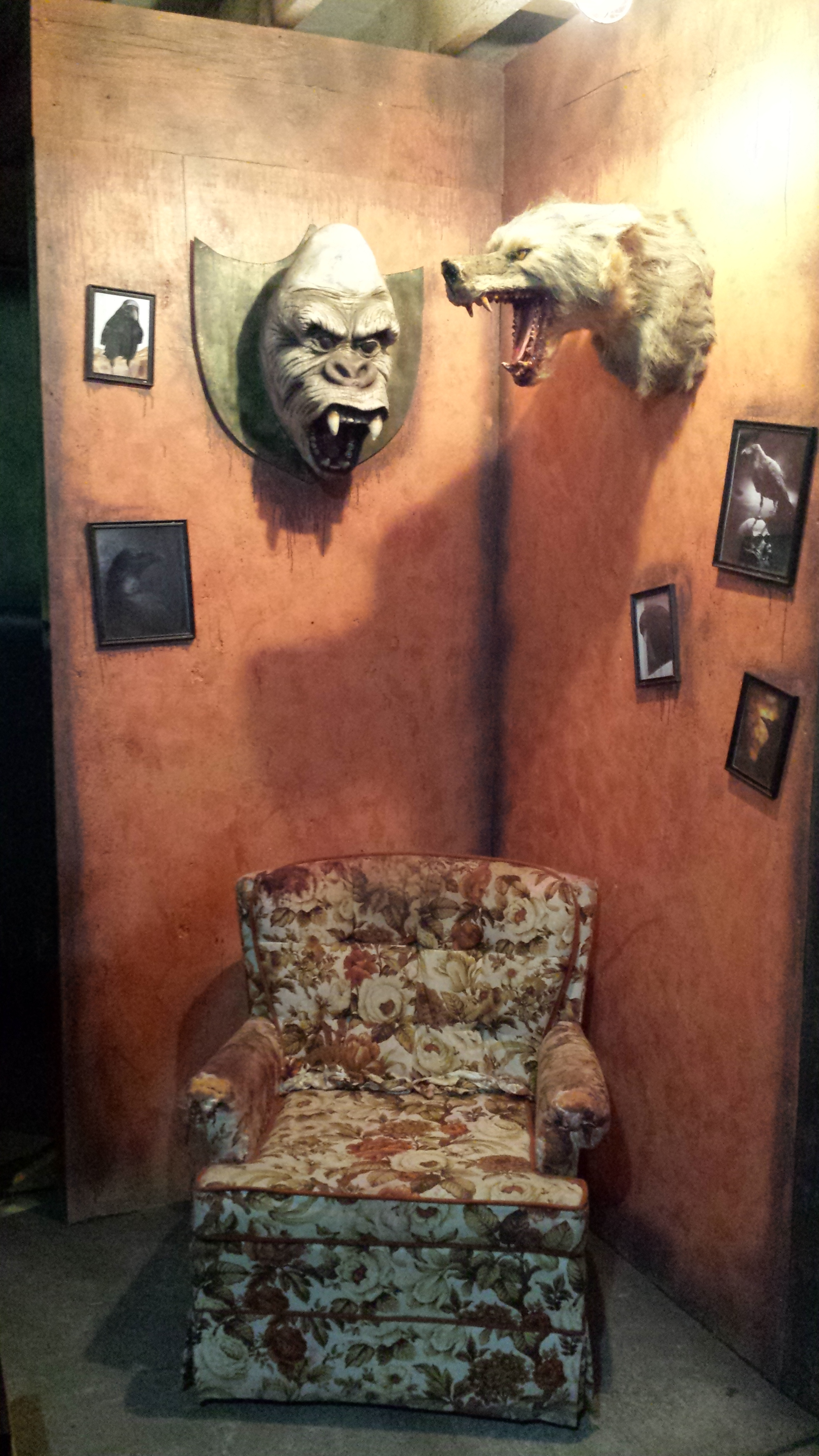 Repaint room, decorate with photographs, distress/age all aspects. (Evil Acres 2015)
