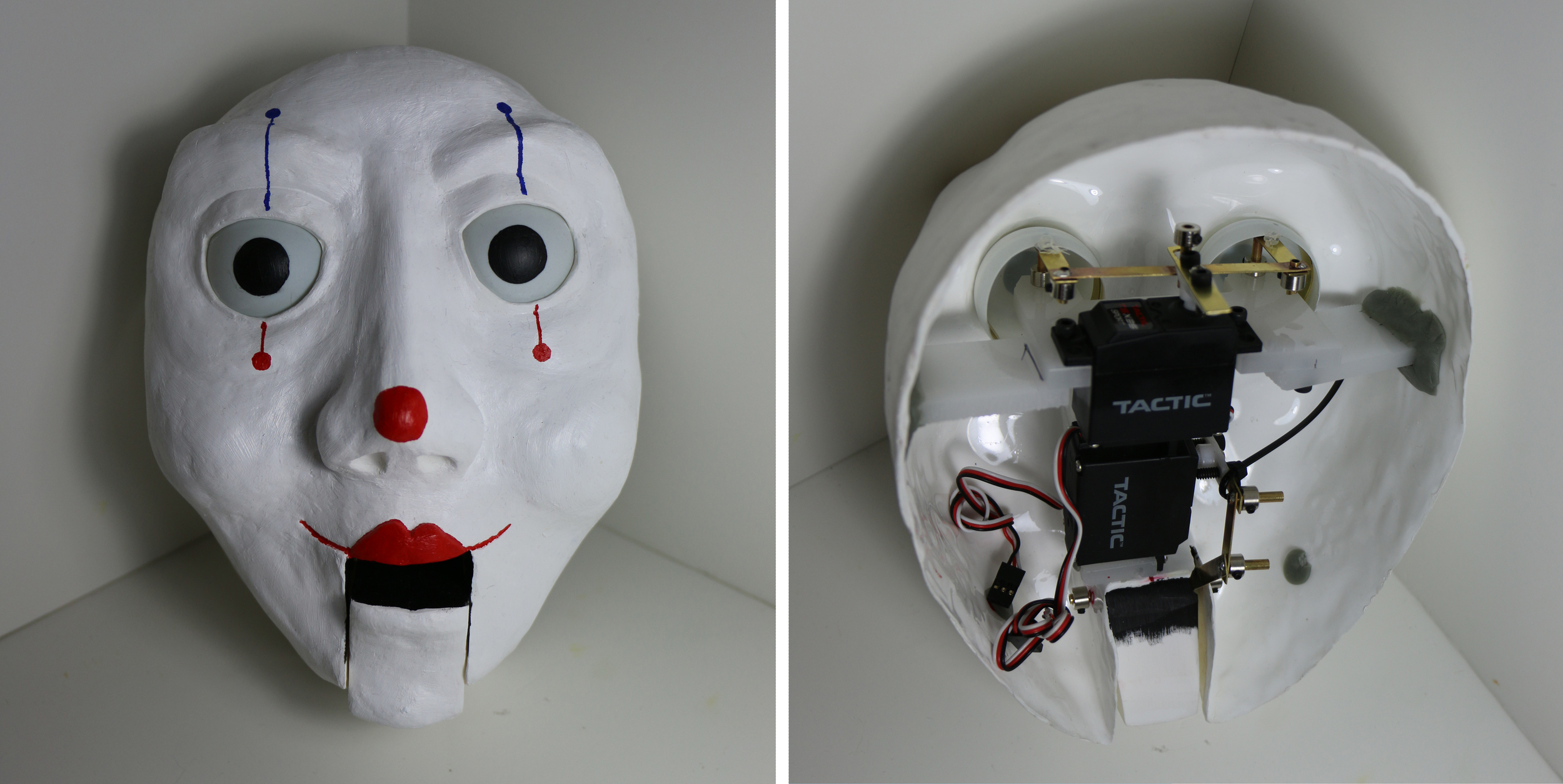 Animatronic Clown, eyes and mouth move via R/C. (2015)