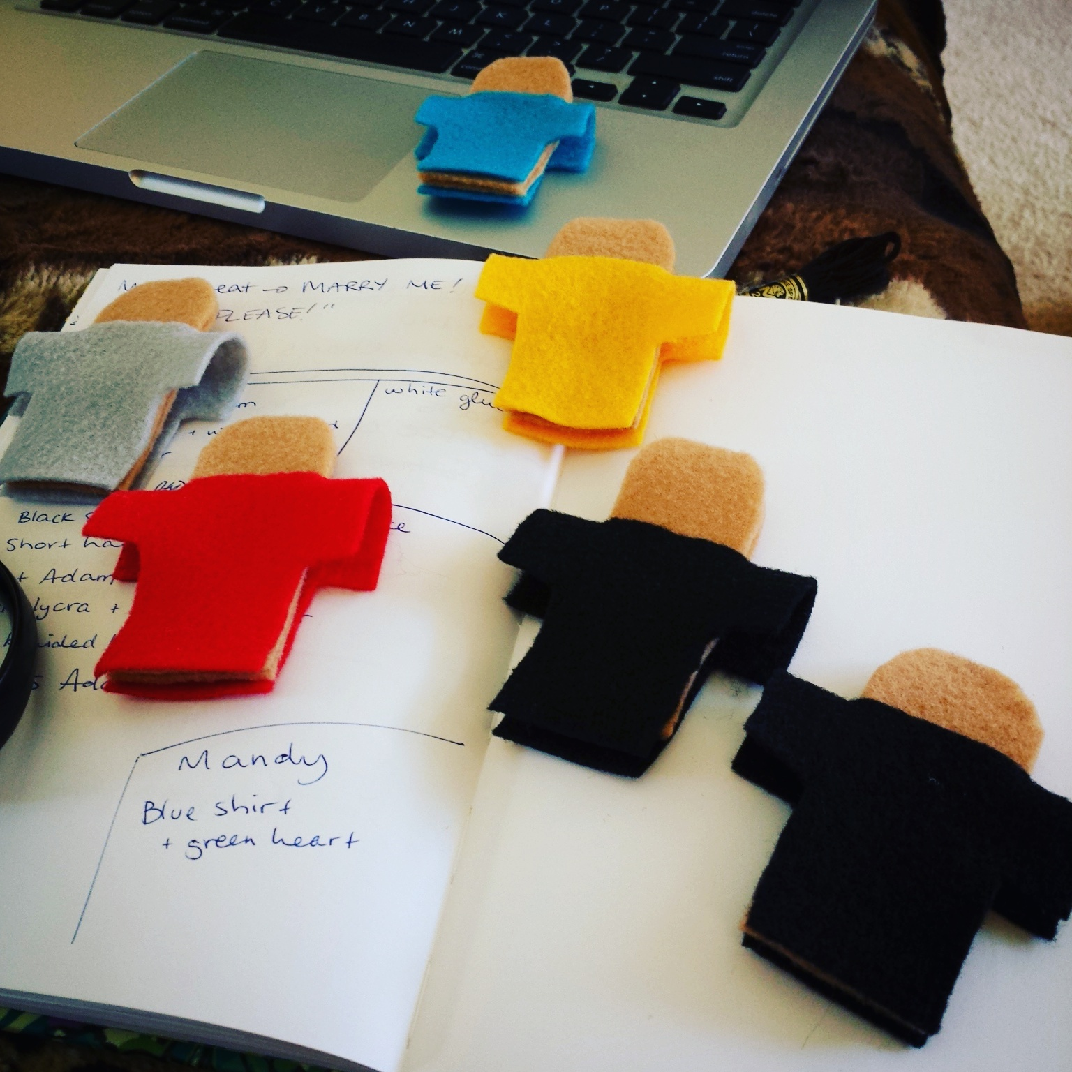 """Finger puppets designed for """"Ollie and Emma"""" webseries. (2016)"""