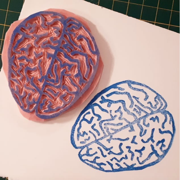 Handmade rubber stamp. (2019)
