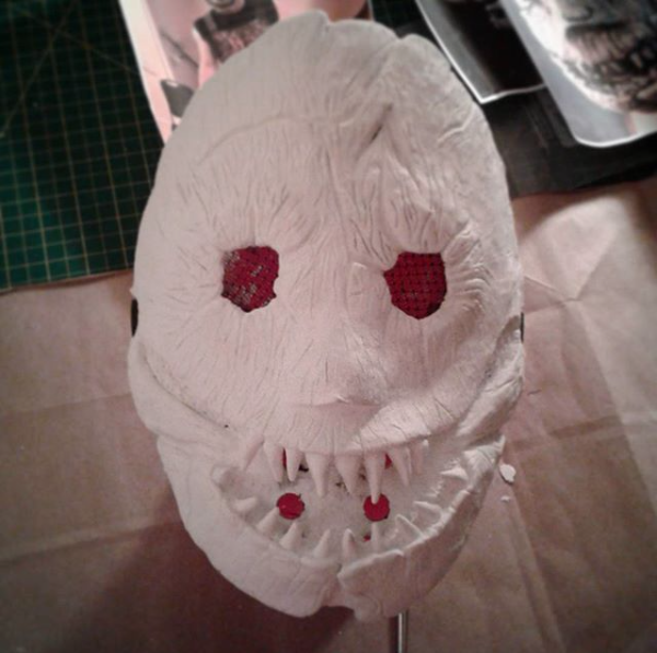 Stage 2 of scary mask sculpt. (2017-2018)