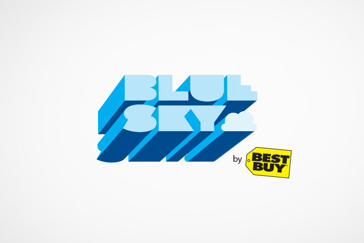 Proposed logo for Best Buy cloud services, a collaborative project completed at  CP+B