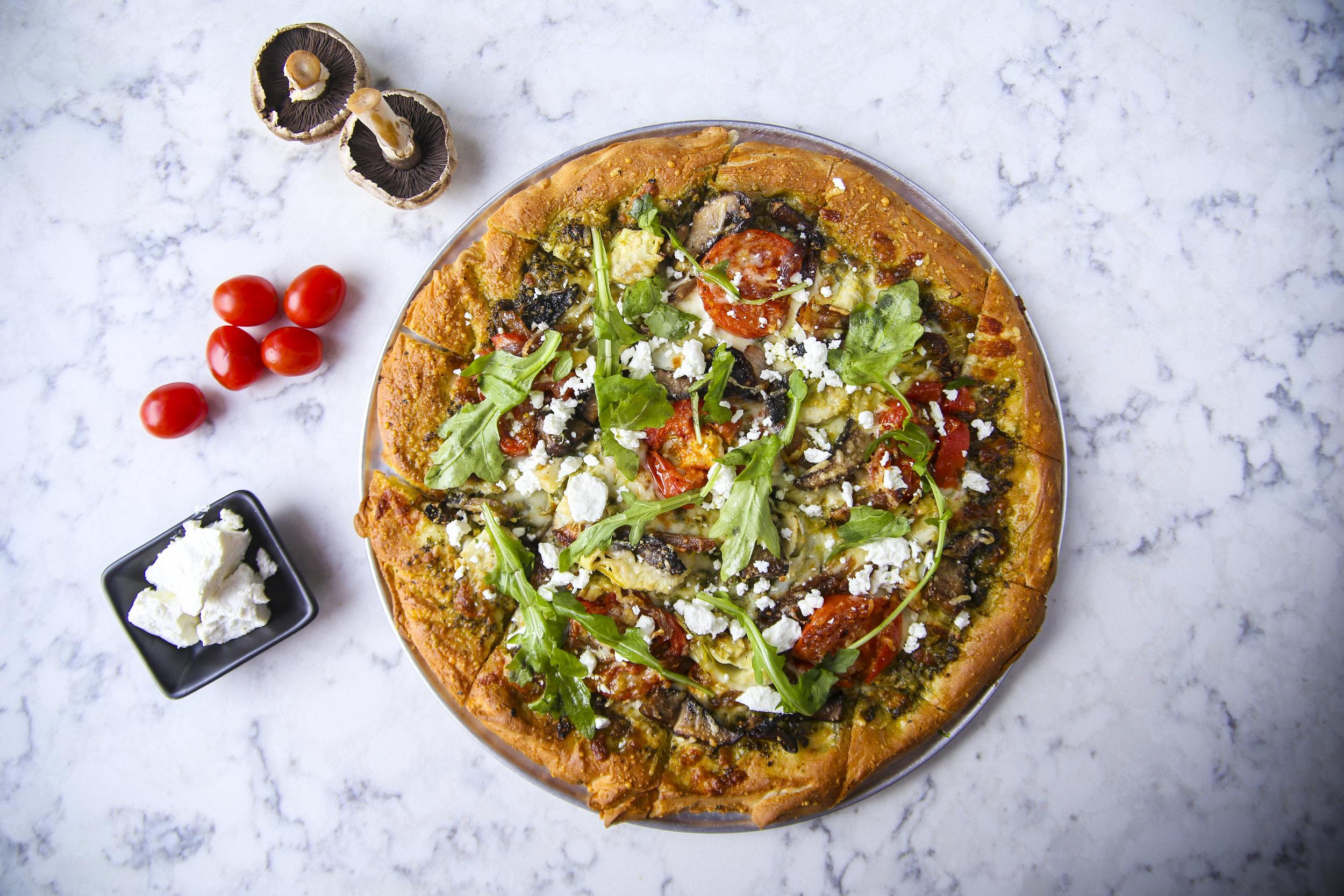 ROASTED VEGETABLE & PESTO PIZZA