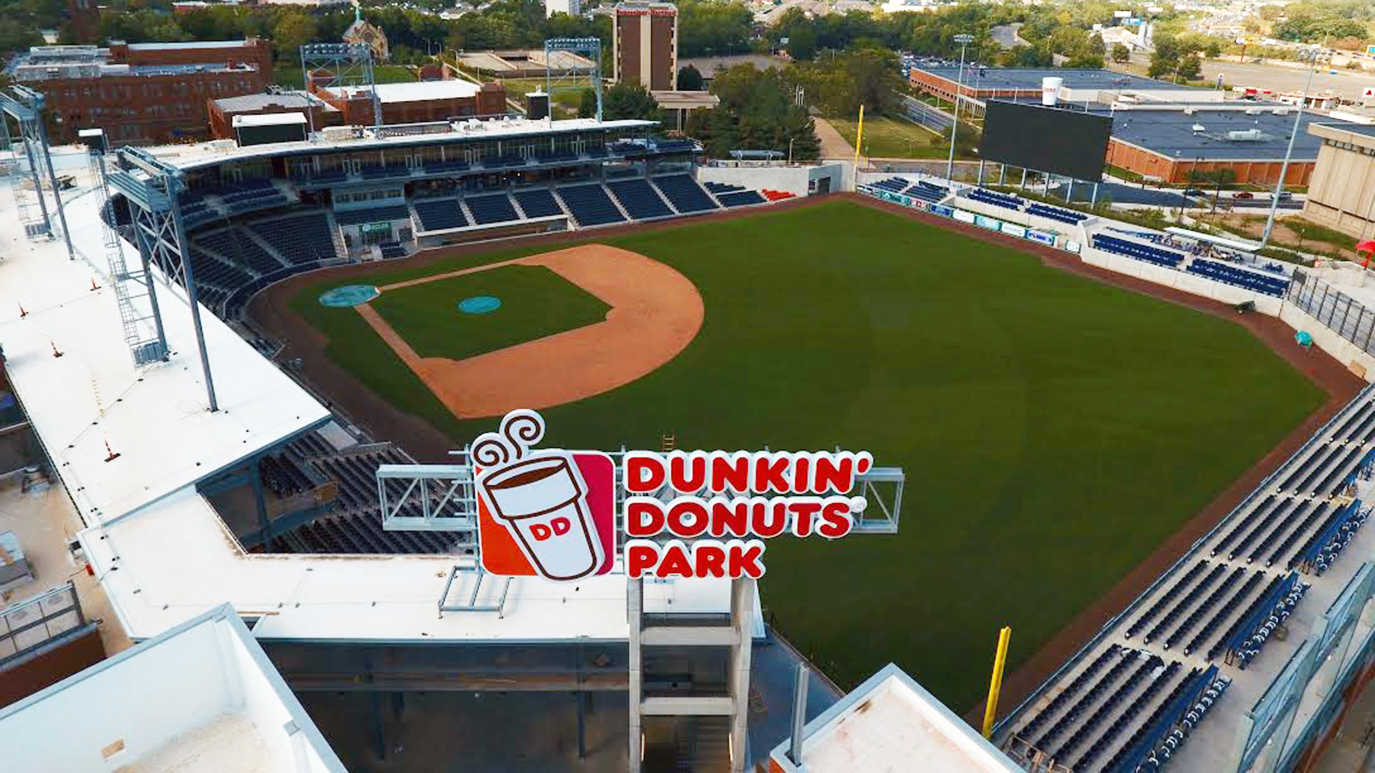 Dunkin' Donuts Park is home to the Hartford Yard Goats (AA Affiliate of the Colorado Rockies). Photo credit:  Quinnipiac University .