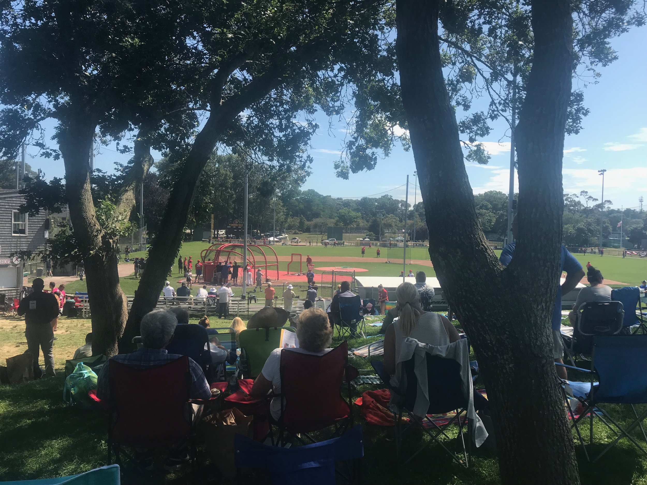Fans swarmed Eldredge Park Early to take in the sights and sounds of the 2019 Cape League All Star Game.  Photo by Harrison Meyers