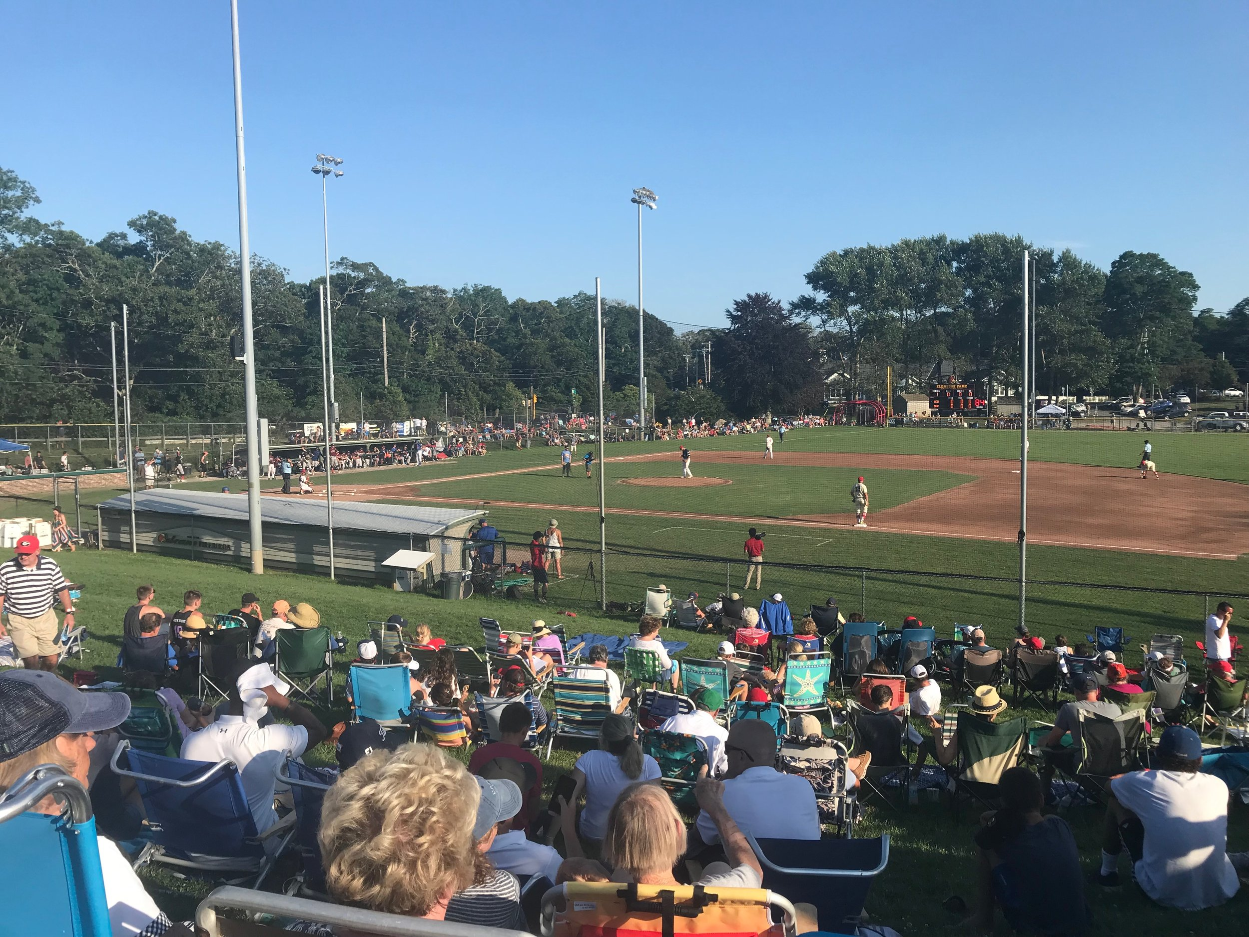 Fans watch the 2019 Cape League All Star Game at Eldredge Park in Orleans.  Photo by Harrison Meyers