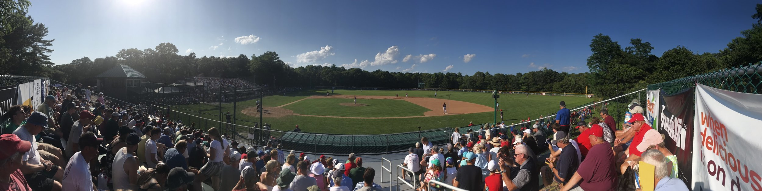 Fans watch Game Two of the 2019 Cape League Championship Series in Cotuit.   Photo by Harrison Meyers.