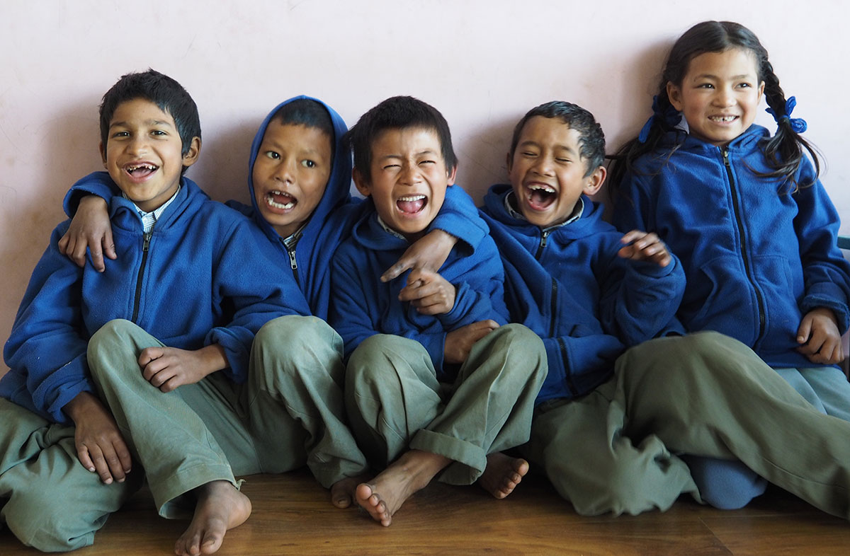 Amanda Sutherland working with children in a small village and orphanage in Lamagaun, Nepal 2013/2014