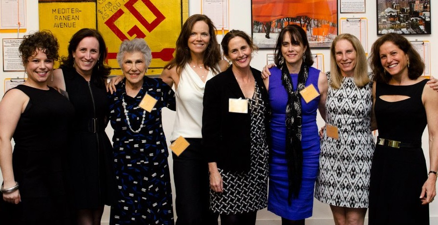 Elinor Ratner (third from left) at the LitWorld Gala 2013 celebrating with members of the LitWorld team and Gala Committee.