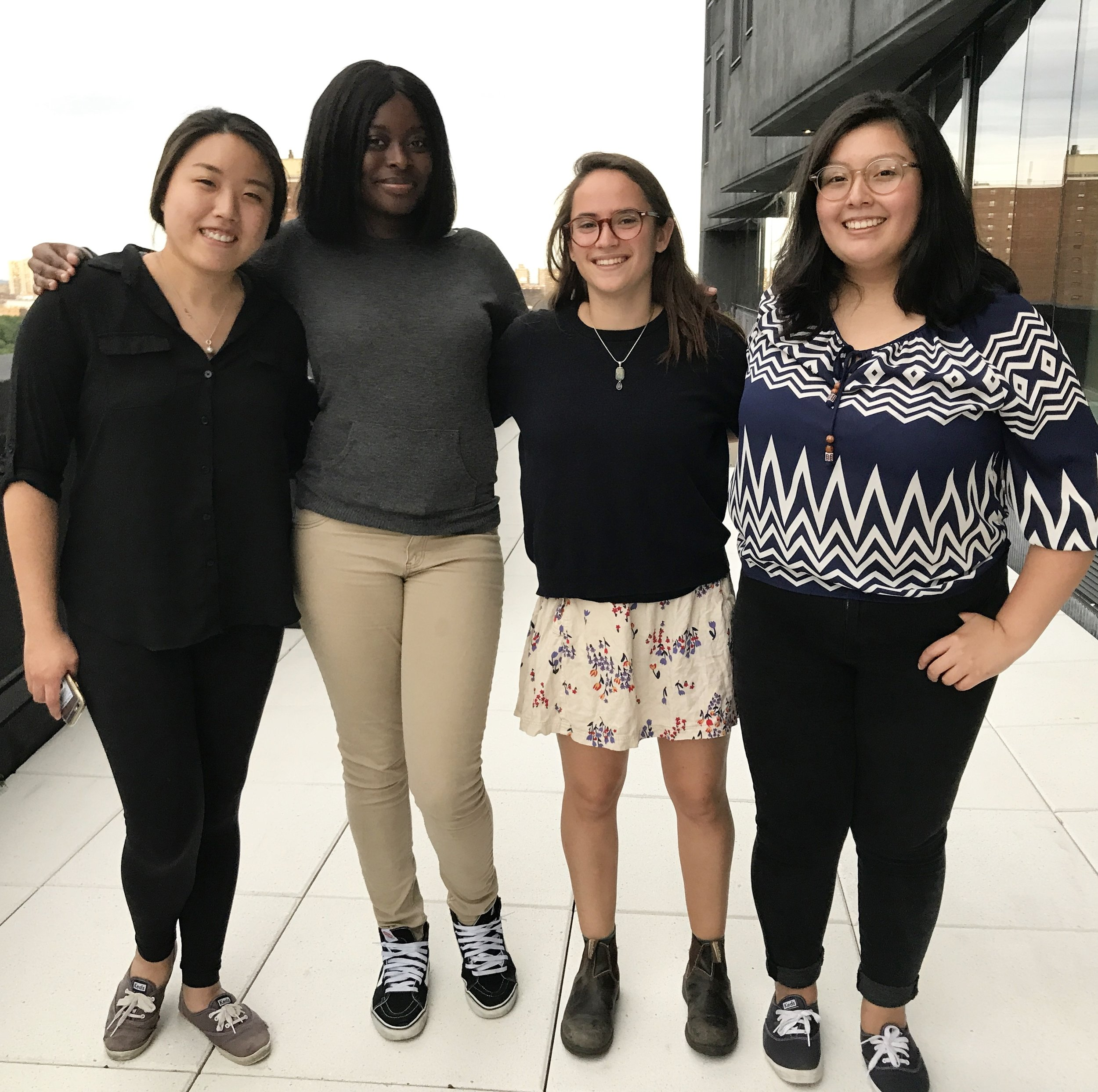 From left to right: Lily Kim, Tiranke Kande, Sara Caplan, and Madeline Bustos.