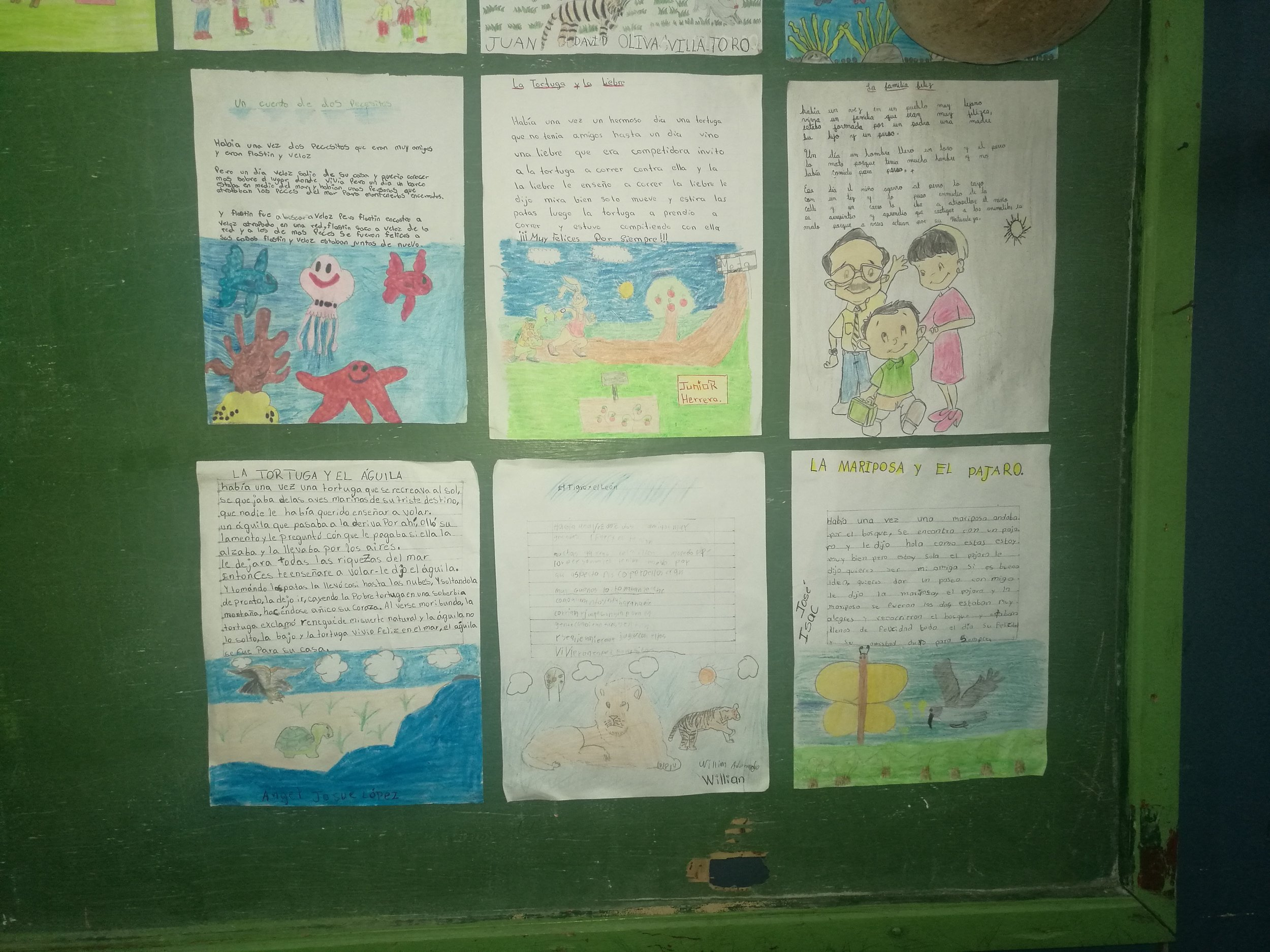 Stories and artwork created by Un Mundo LitKids in Honduras.