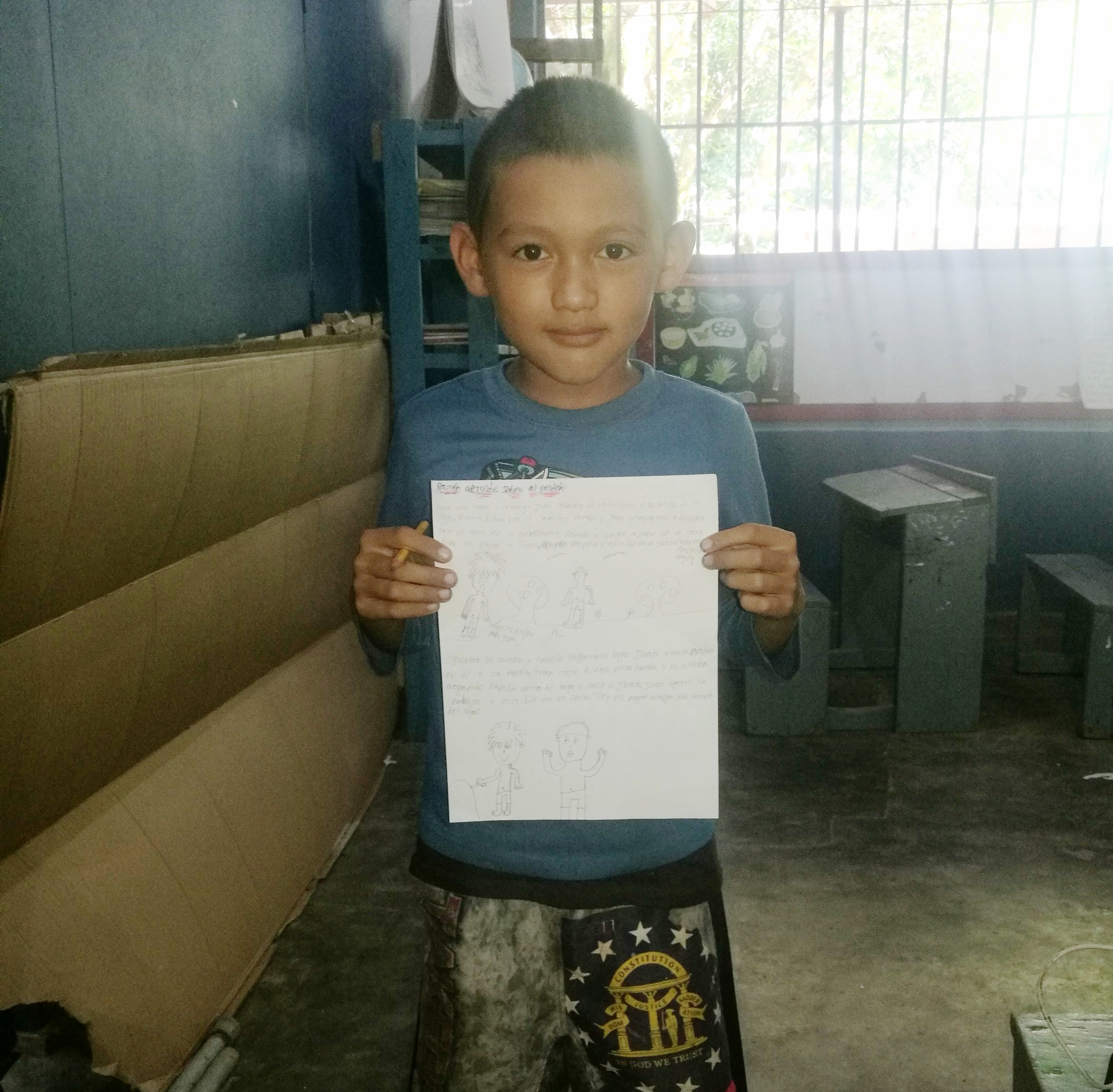 Ángel David, 10, published  Ramón Aprende Más Sobre El Perdón ( Ramon Learns about Forgiveness) in  Susurros del Cangrejal. His story is about two friends who learn about forgiveness and unconditional friendship.