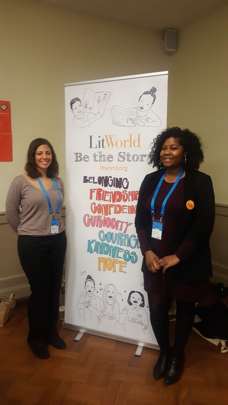 Ana and Amber at the World Literacy Summit.