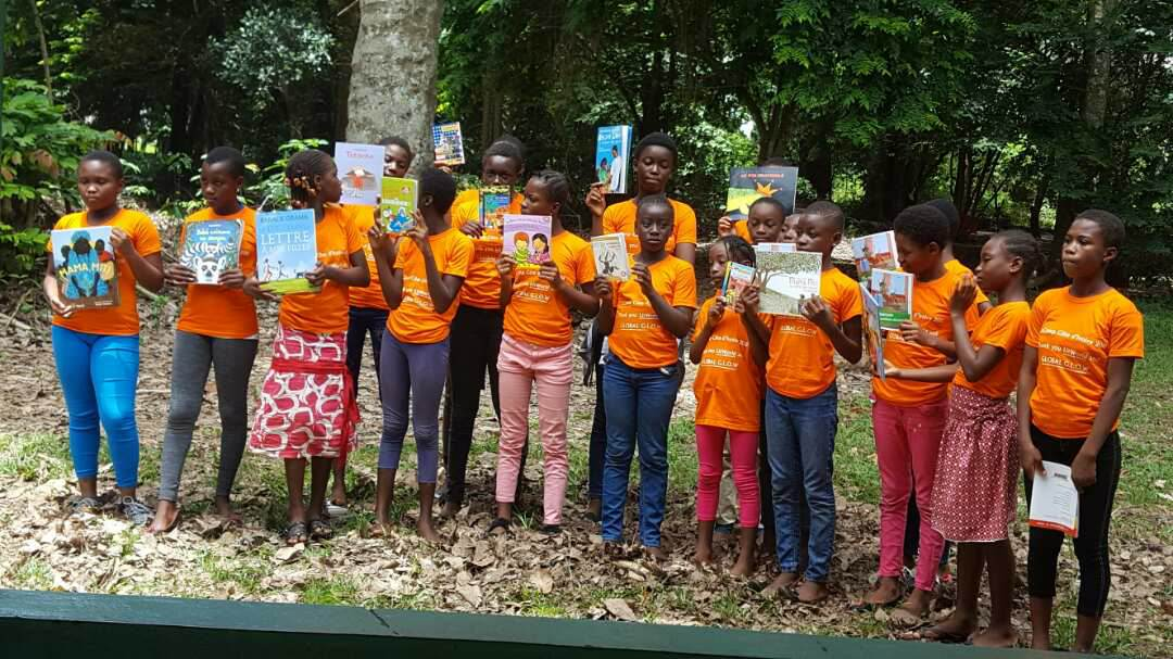 LitCampers with their books.