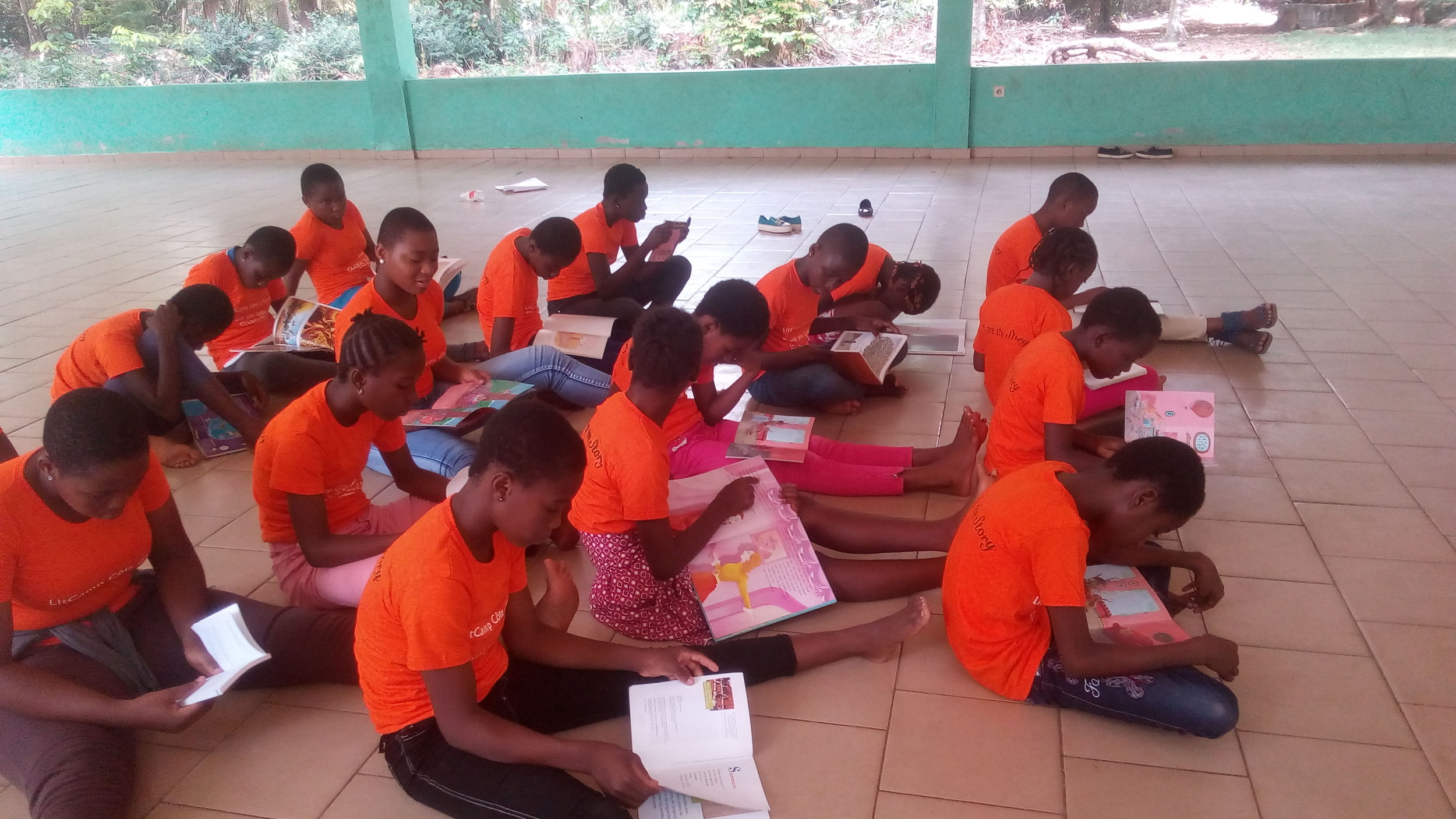 An independent reading session during LitCamp.
