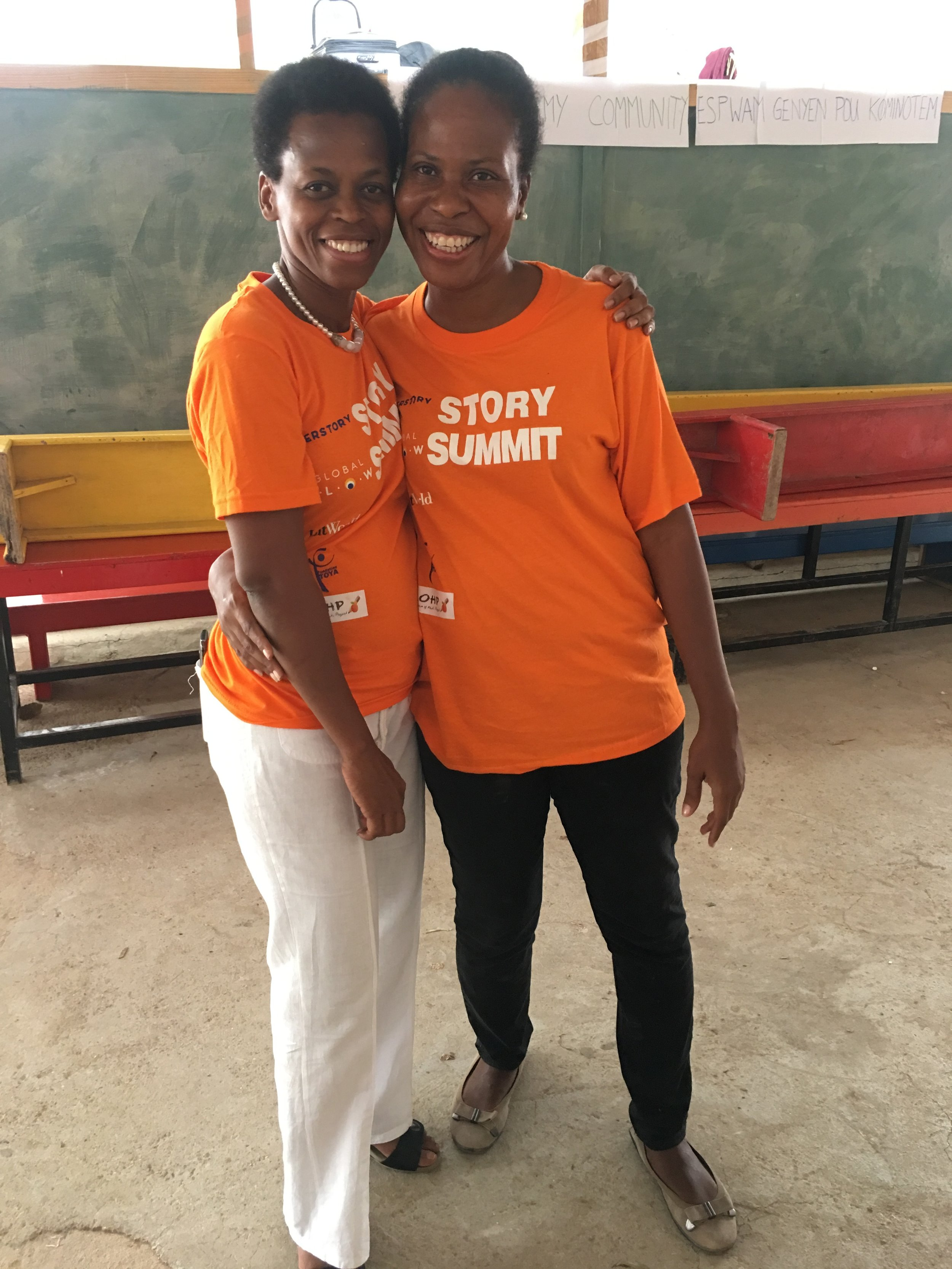 The Executive Director of Fondation TOYA, Nadine (left) with the Executive Director of COHP, Dominique (right).