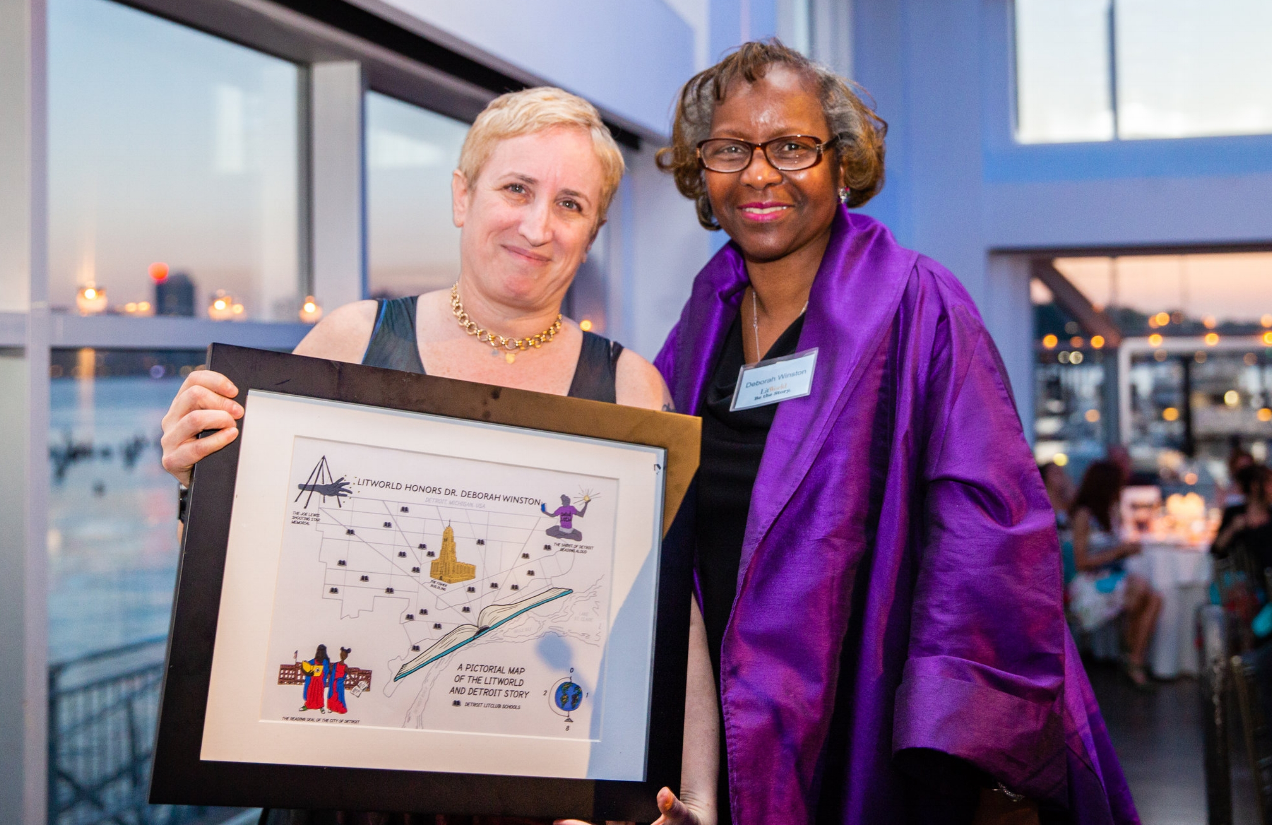LitWorld's Founder, Pam Allyn, with 2018's Be the Story Honoree, Dr. Deborah Winston.