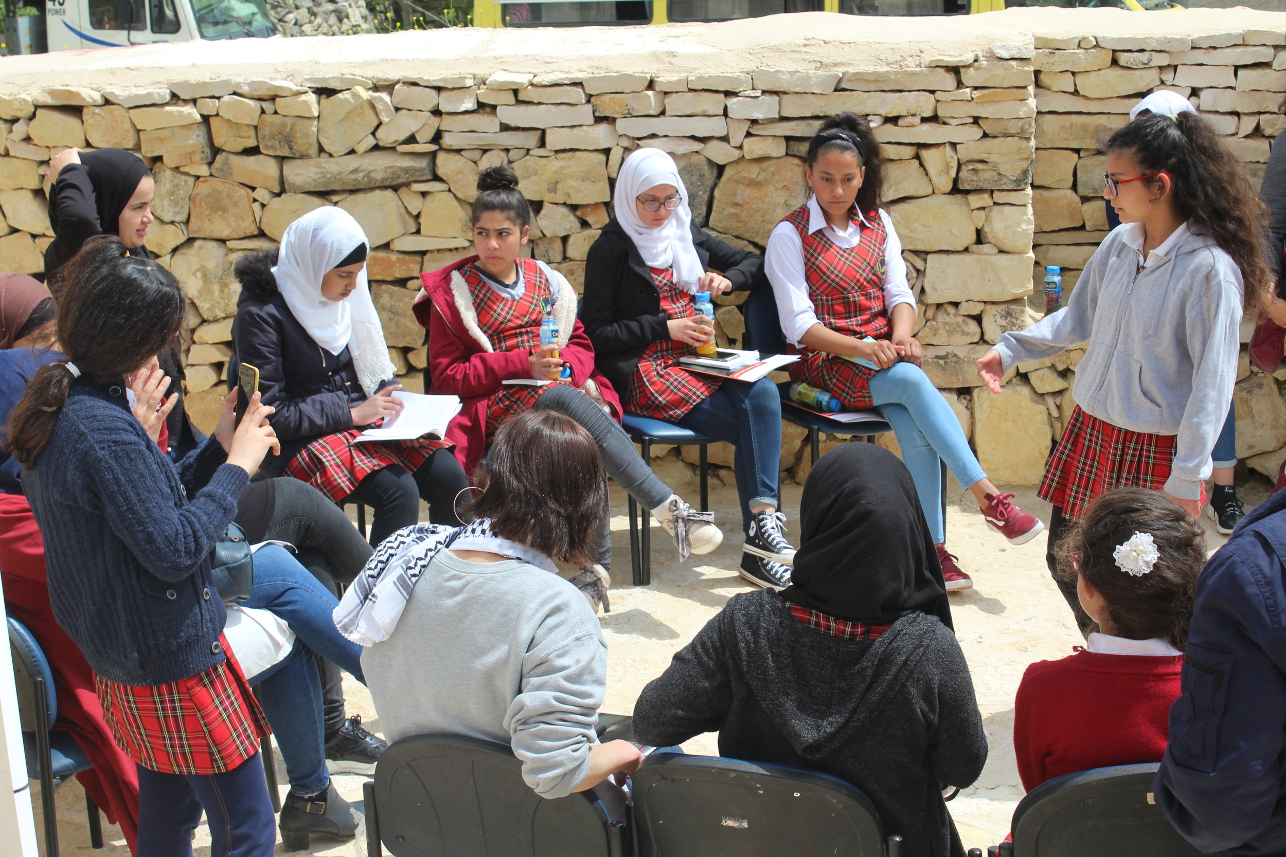 Girls participating in the Reading Event.