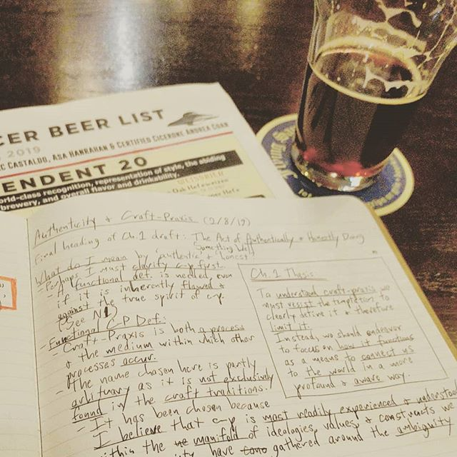 Analog #dissertation work is always best done with a fortifying brew. #phdlife