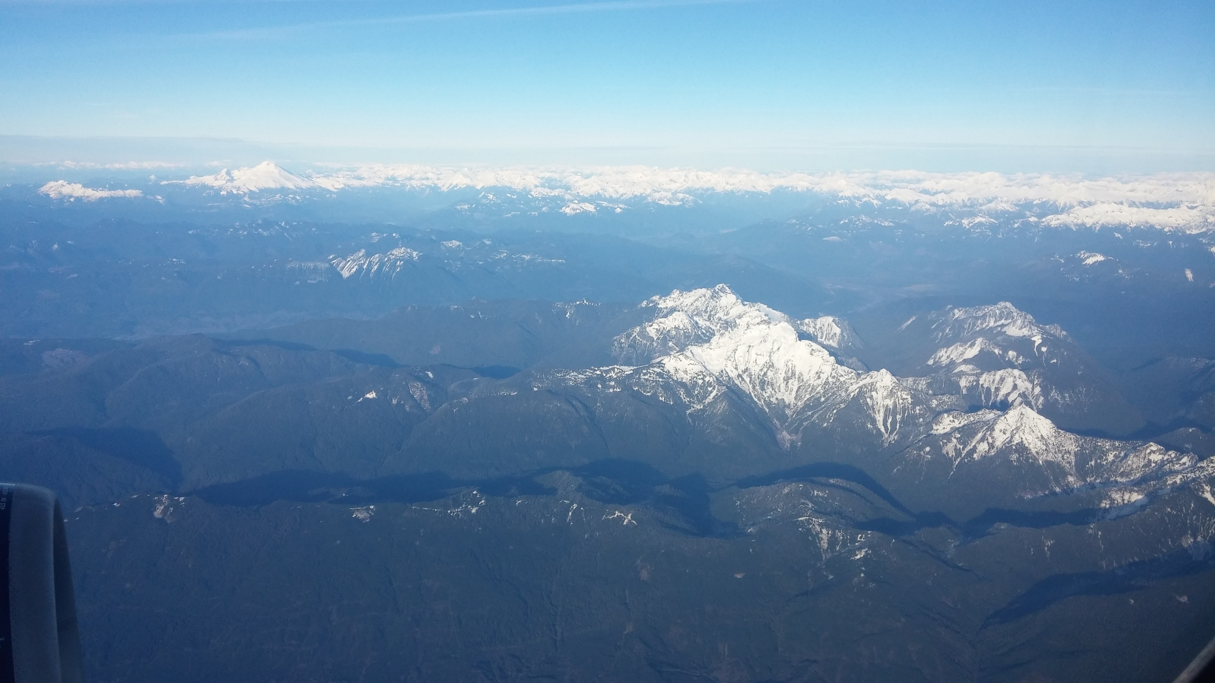 Canada from the plane